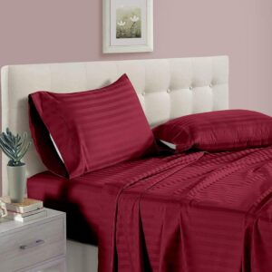 SATIN STRIPES KING BEDDING SET